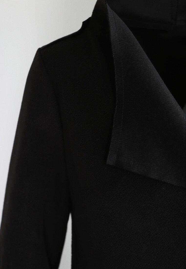 Czarny Płaszczyk Cover Up
