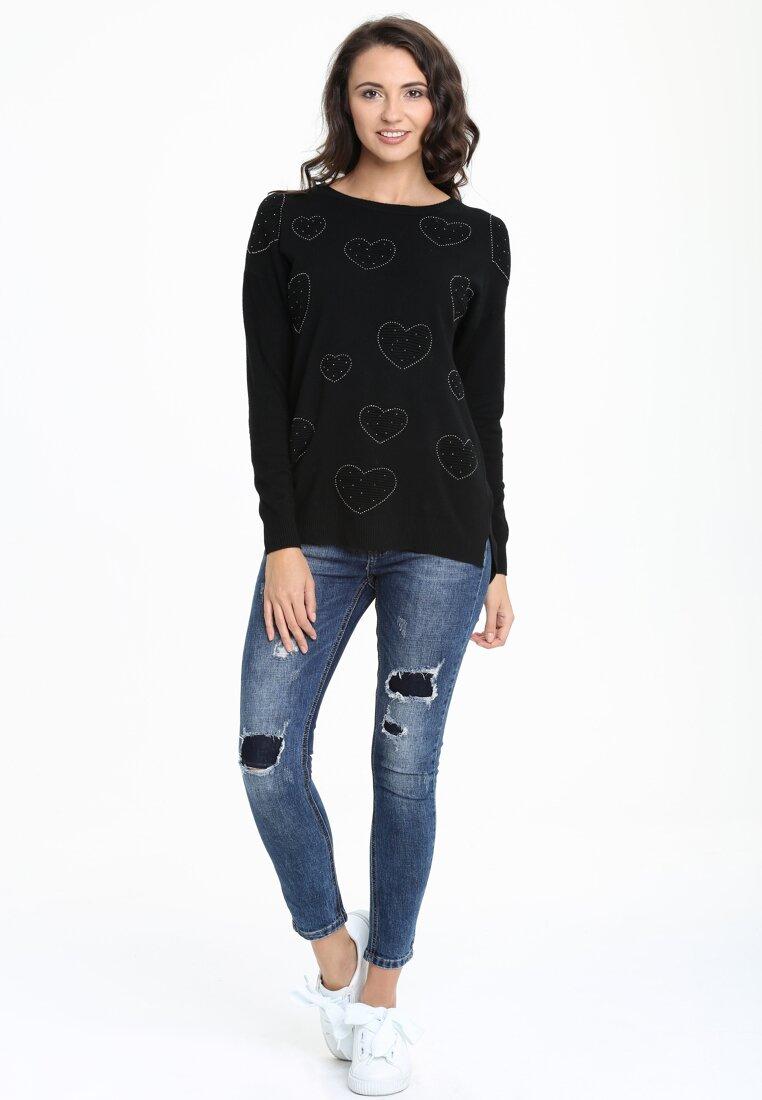 Czarny Sweterek Myskie