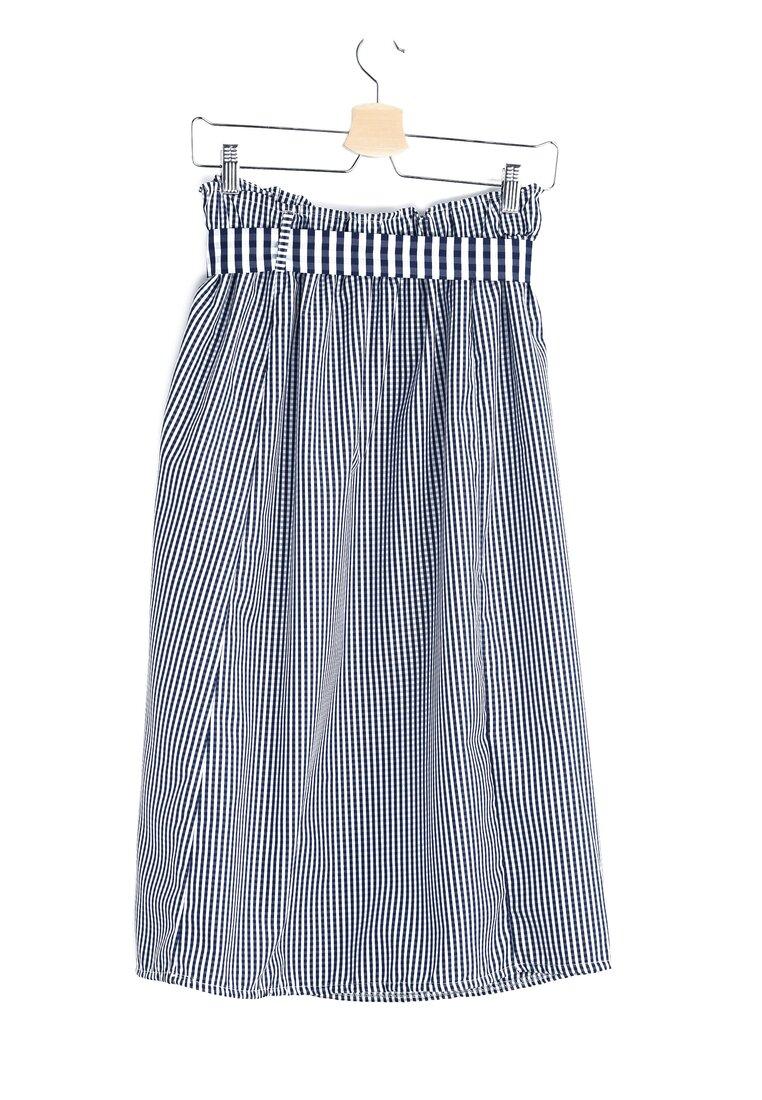 Granatowa Spódnica Checker
