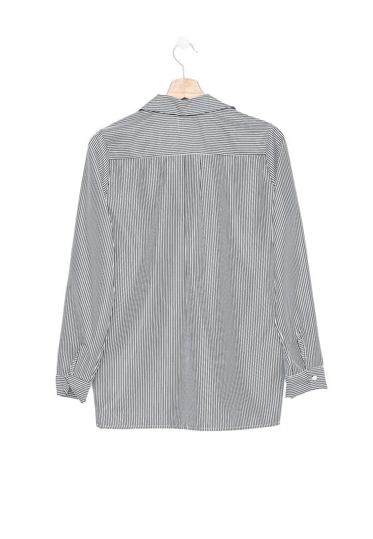 Czarno-Biała Koszula Adore Infinity