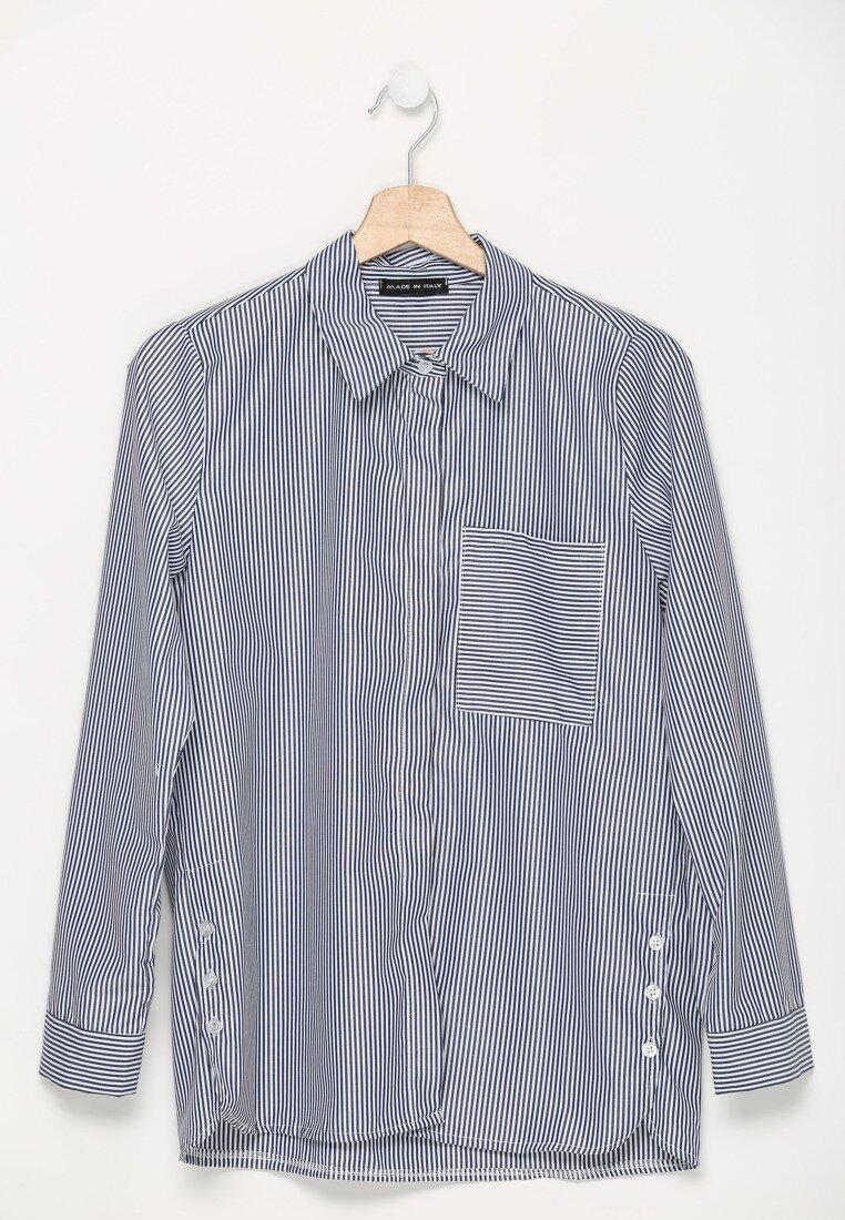 Granatowa Koszula Adore Infinity