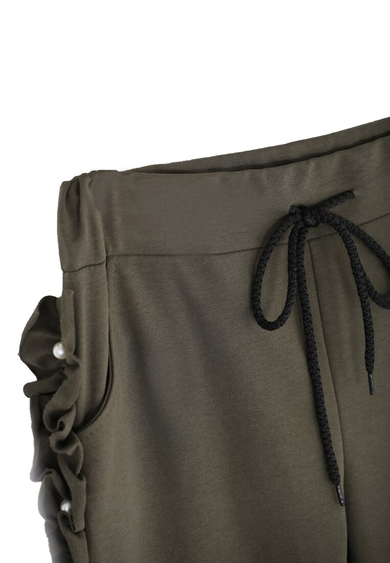 Khaki Spodnie Dresowe Pearlish