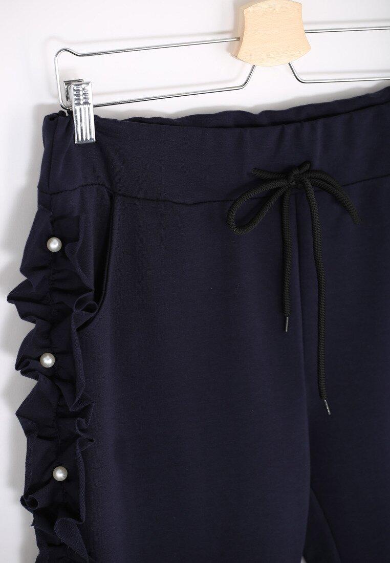 Ciemnogranatowe Spodnie Dresowe Loosen