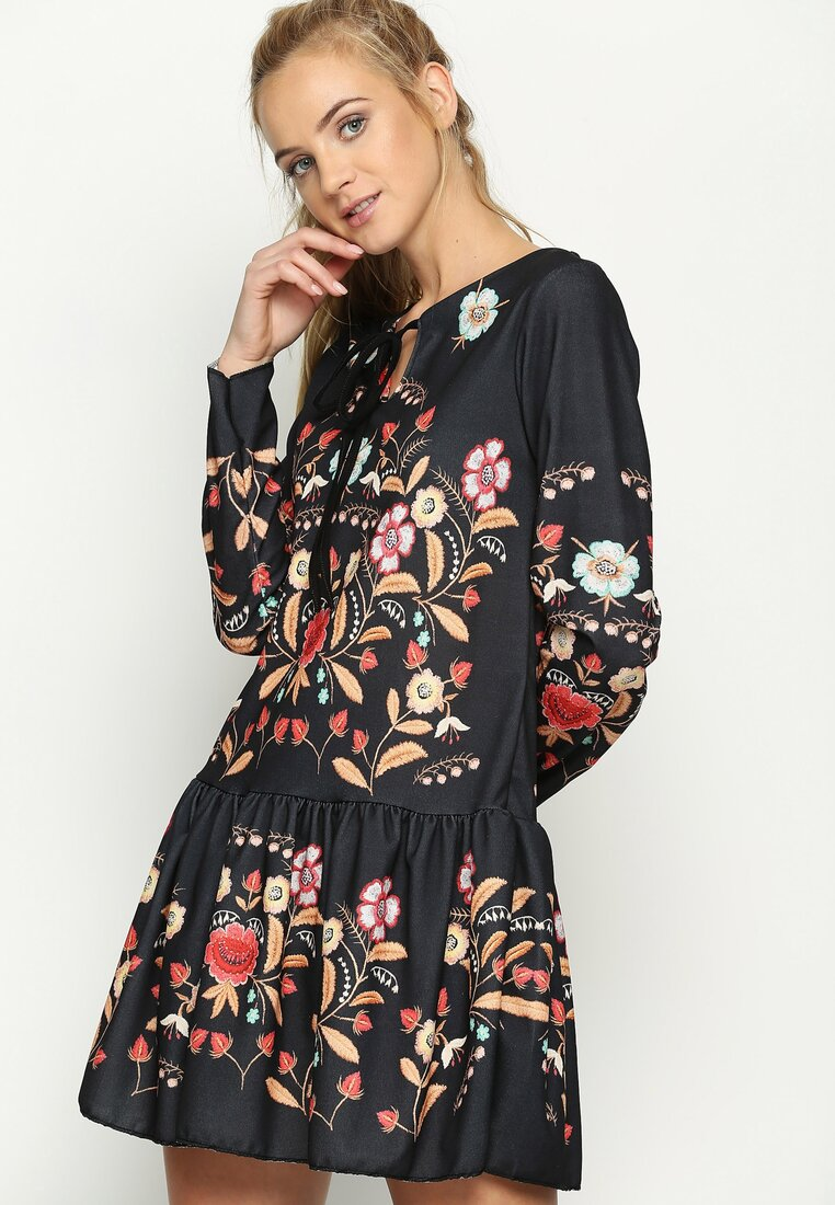 Czarno-Beżowa Sukienka Baylor