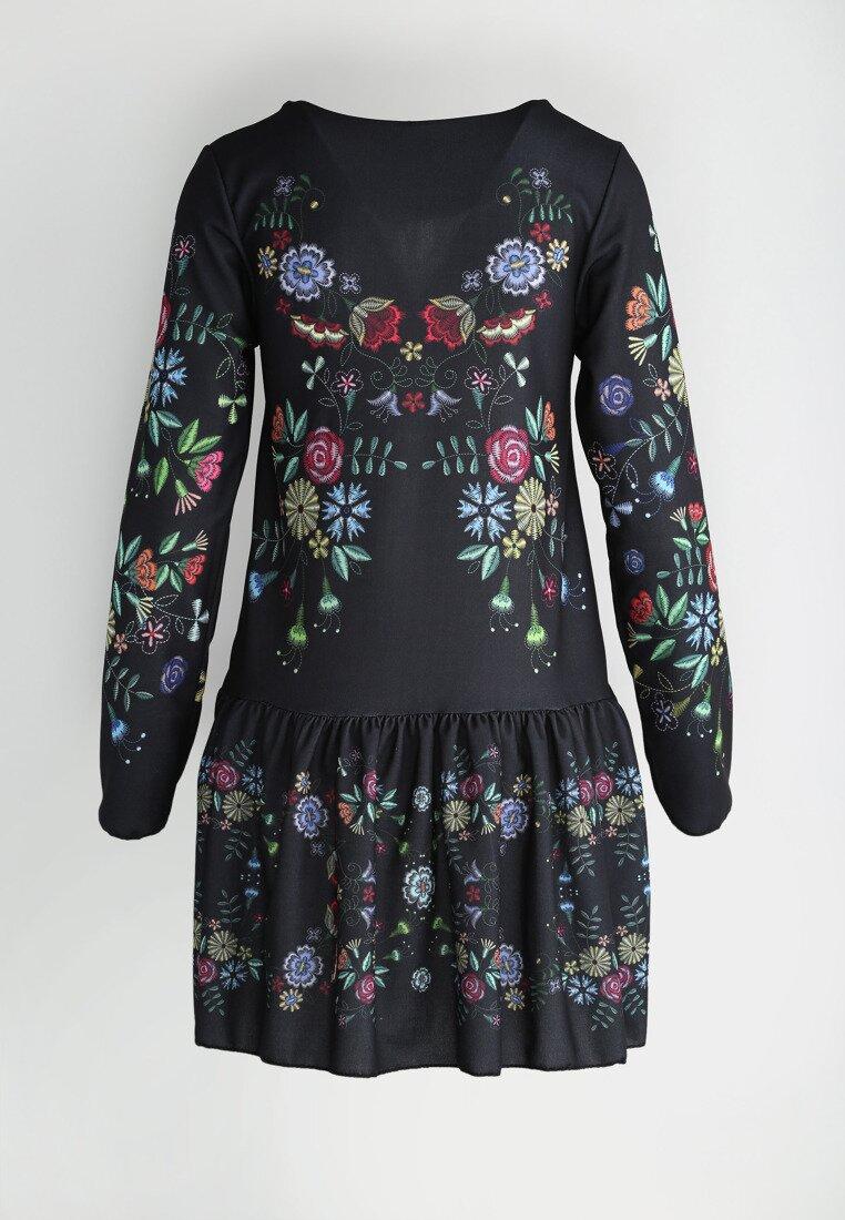 Czarno-Zielona Sukienka Baylor