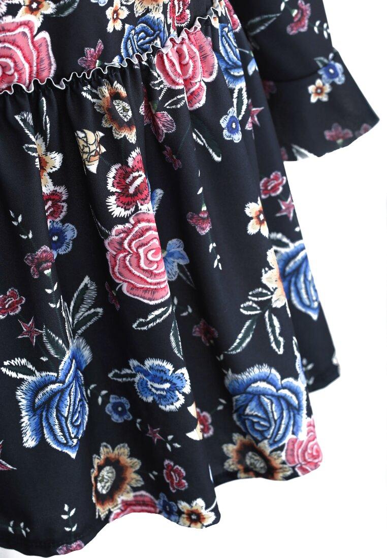 Czarno-Różowa Sukienka Hey Girl!