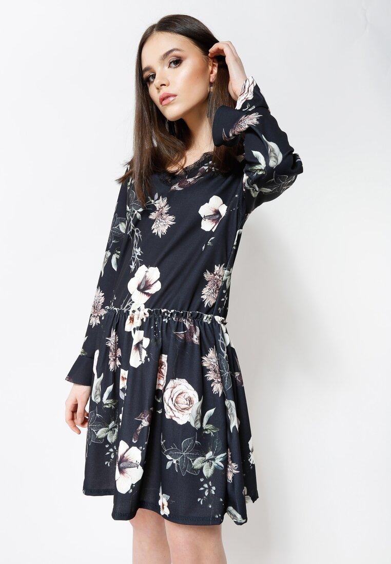 Czarno-Kremowa Sukienka Hey Girl!