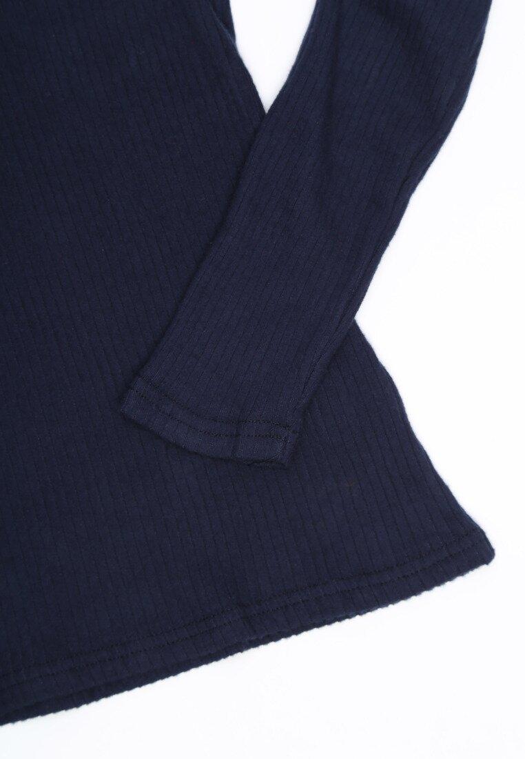 Granatowa Bluzka Simple Thing