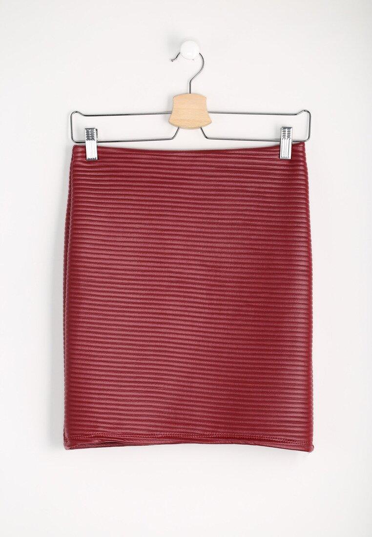 Bordowa Spódnica Pinstripe