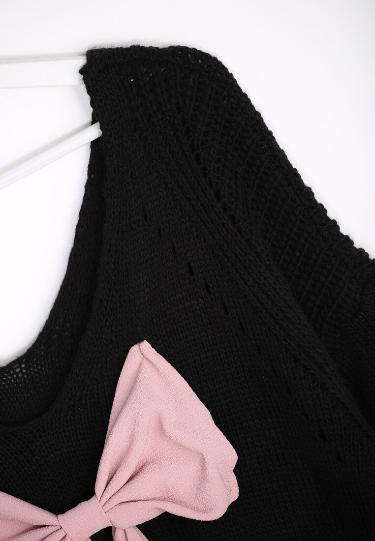 Czarny Sweter Back Ribbon