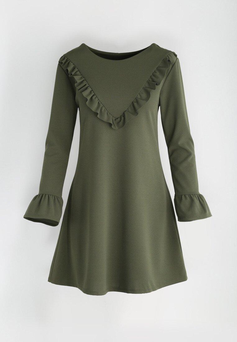Ciemnozielona Sukienka Female