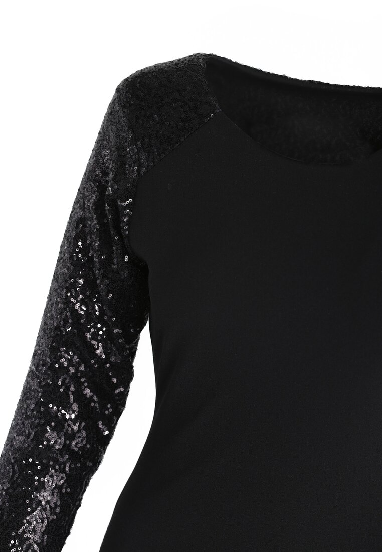 Czarna Sukienka Silver Star