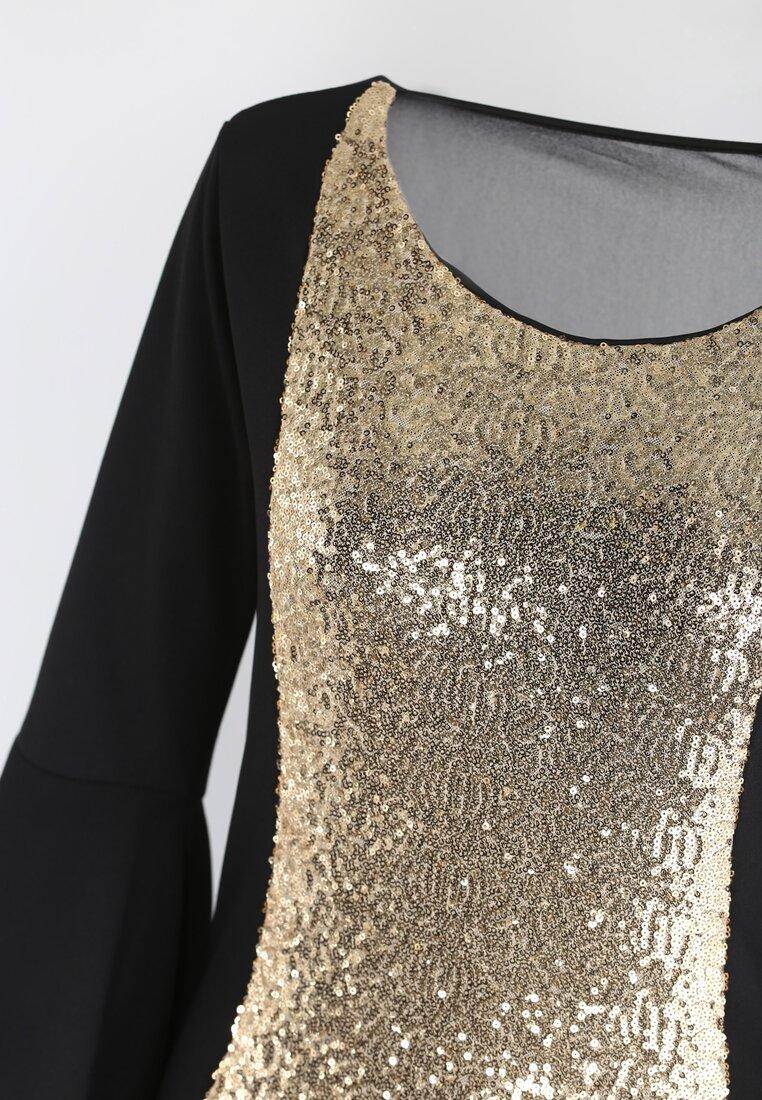Czarno-Złota  Sukienka Viva Diva