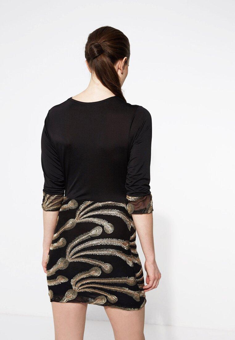 Czarno-Złota Sukienka Dynamite