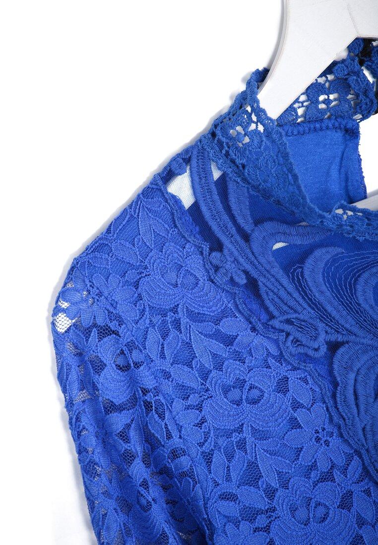 Kobaltowa Bluzka Victorian
