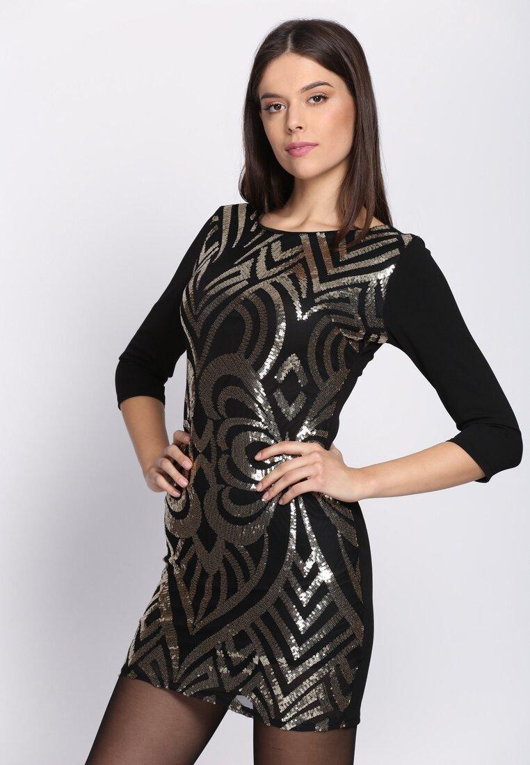 Czarno-Złota Sukienka Look Alive