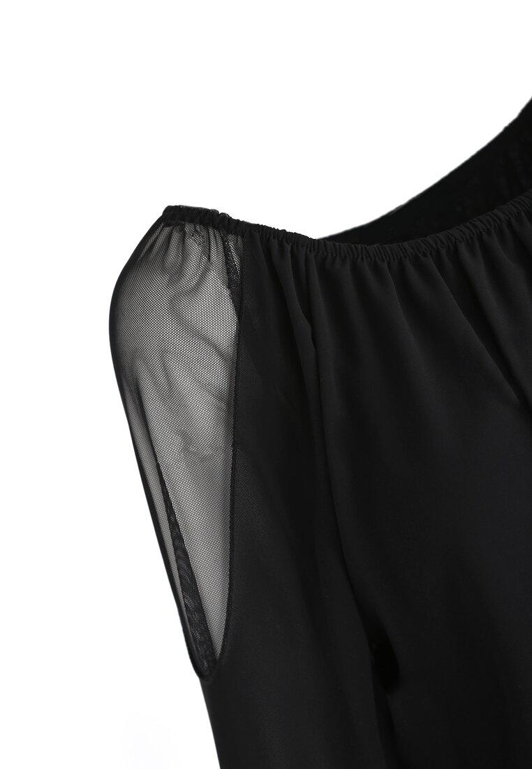Czarno-Złota Sukienka Eighties Vibe