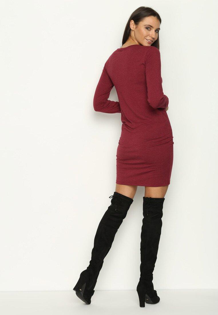 Bordowa Sukienka Little Dress