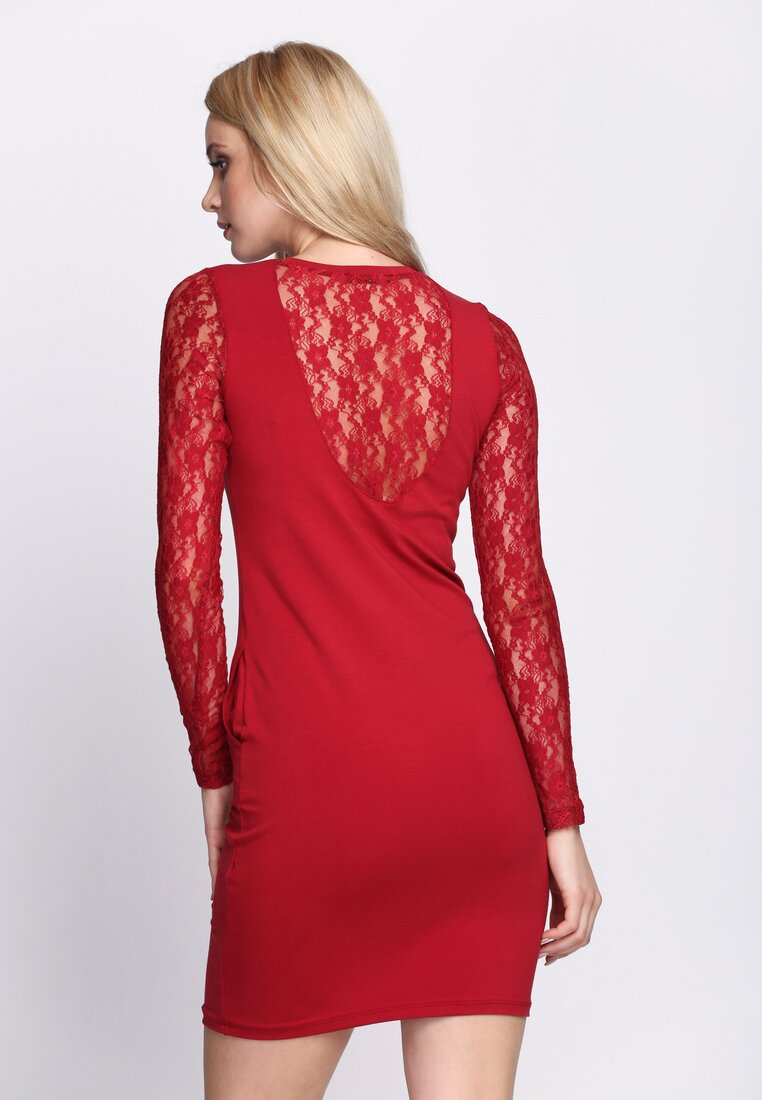 Bordowa Sukienka Snug