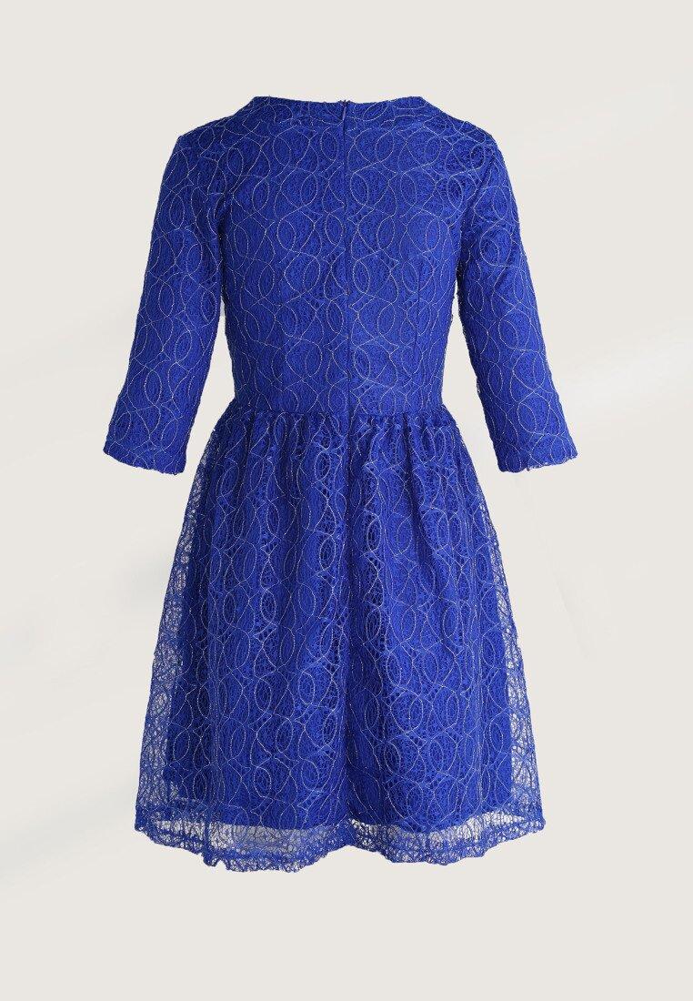 Kobaltowa Sukienka Tea Time