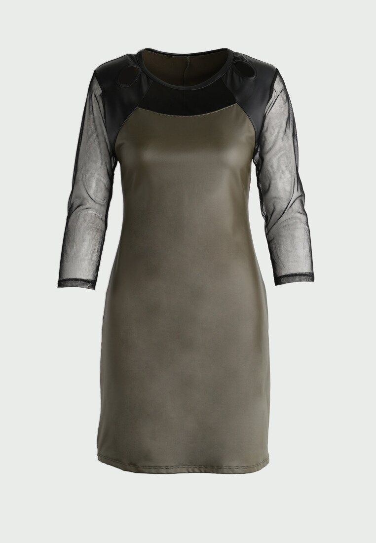 Khaki Sukienka Second Skin