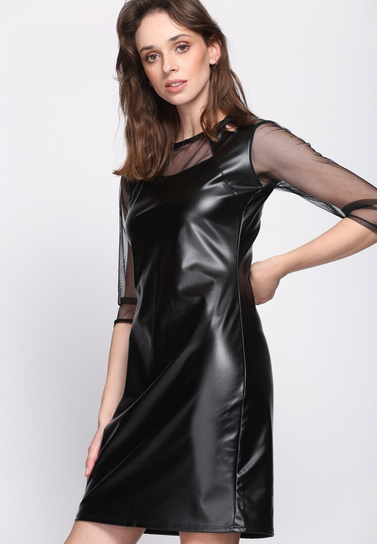 Czarna Sukienka Second Skin