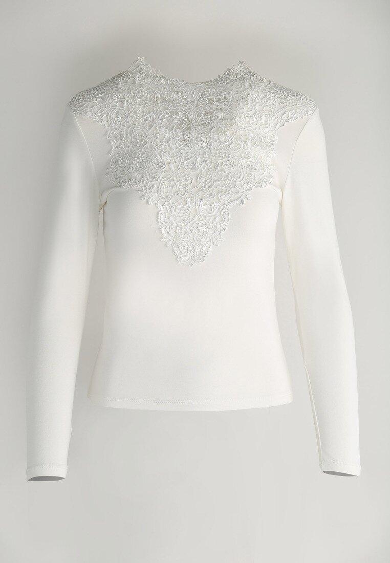 Biała Bluzka Cleaved