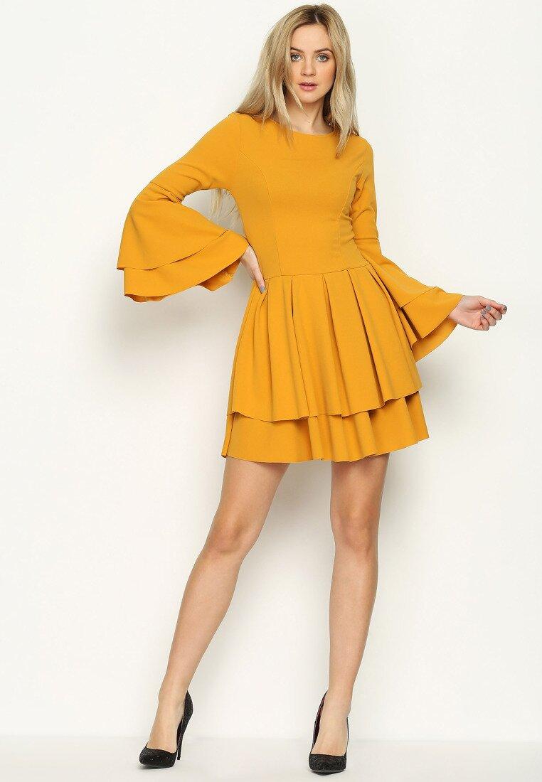 Żółta Sukienka Mad Routine