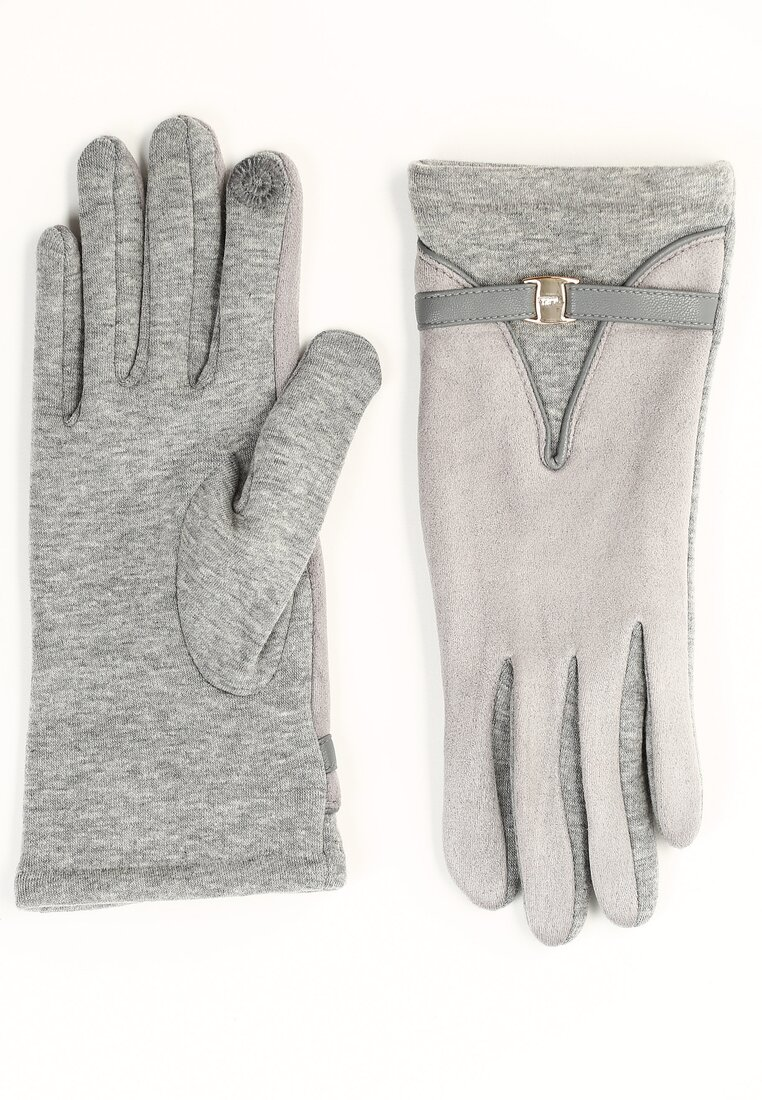 Szare Rękawiczki Grace