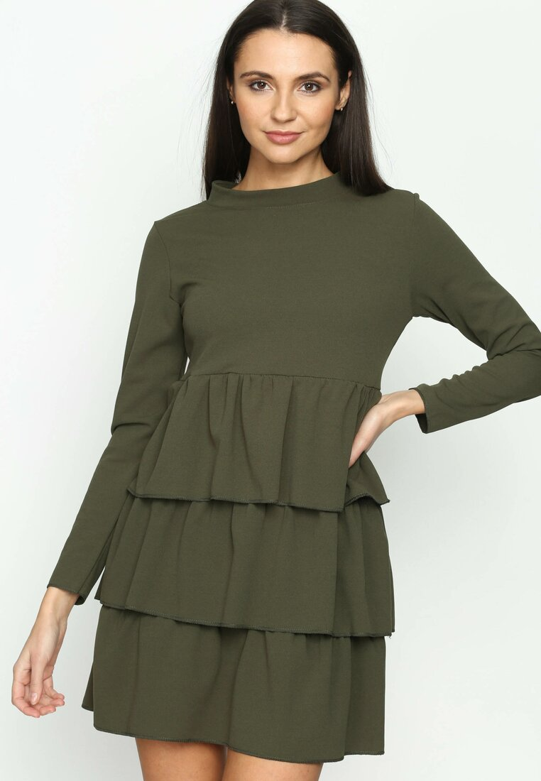 Khaki Sukienka Modesty And Chic