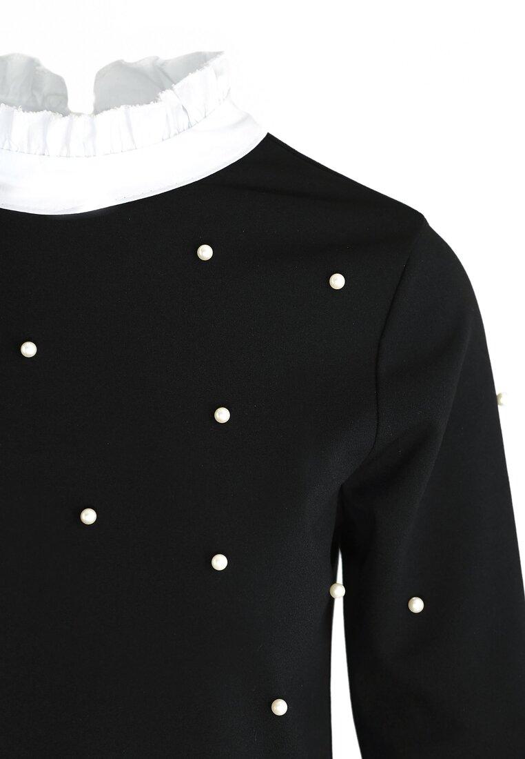 Czarna Bluzka Elizabethan Pearls