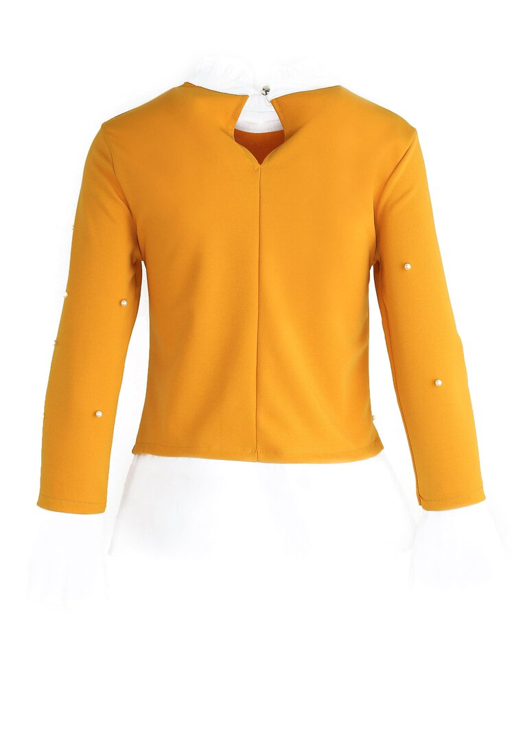 Żółta Bluzka Elizabethan Pearls