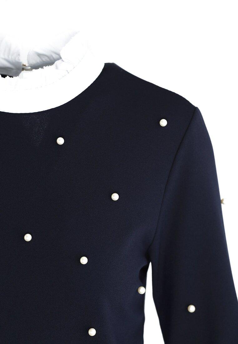 Granatowa Bluzka Elizabethan Pearls