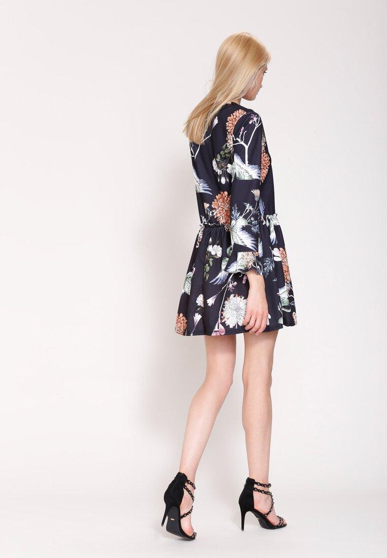 Czarno-Brązowa Sukienka Sleepy Petal