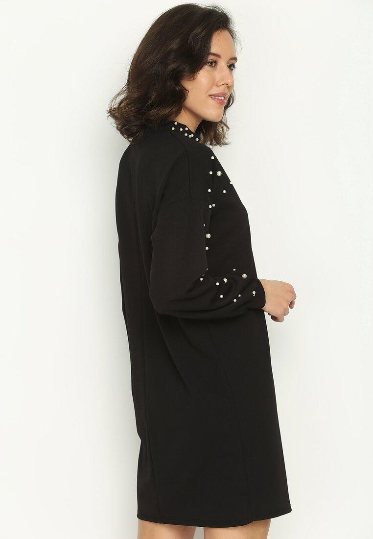Czarna Sukienka Rain Of Pearls