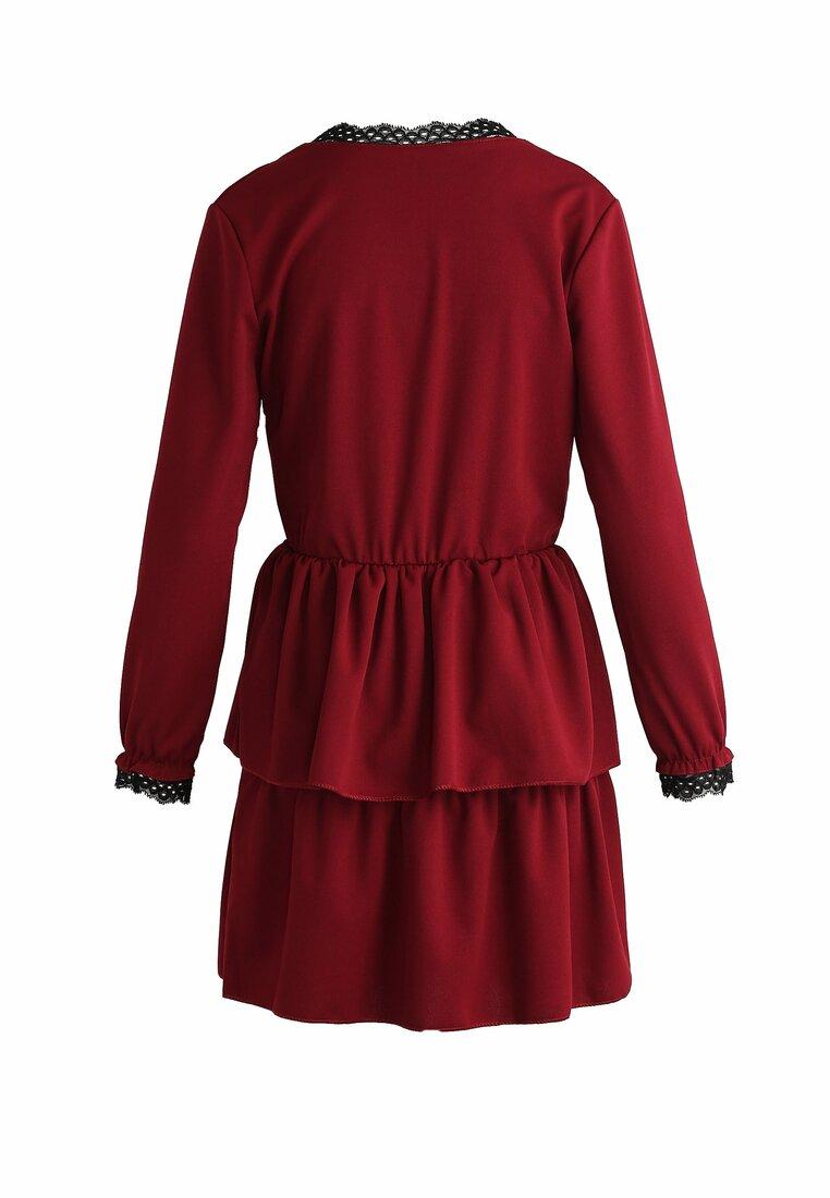 Bordowa Sukienka Deep Love