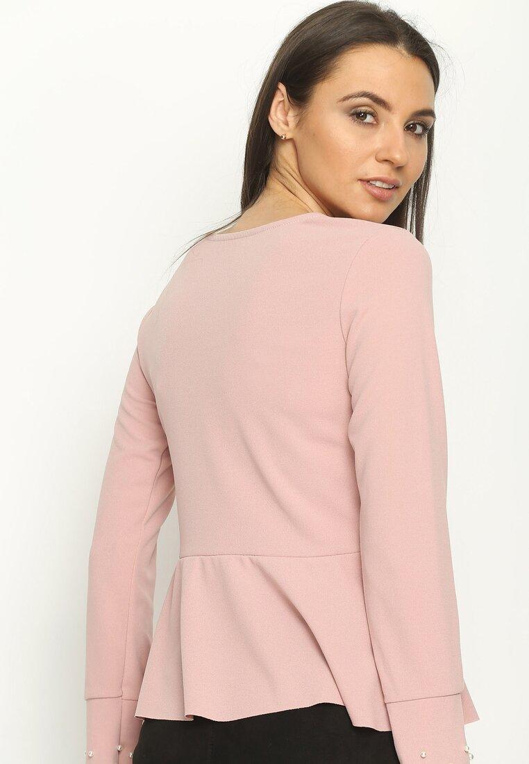 Różowa Bluzka Rays of Pearls