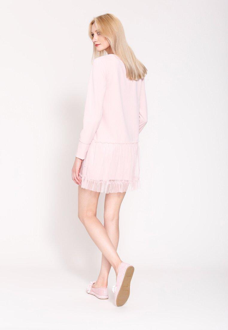 Różowa Sukienka Fine Detail