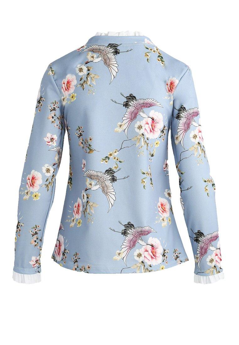 Jasnoniebieska Bluzka Flowery Rise