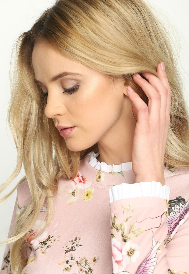 Różowa Bluzka Flowery Rise