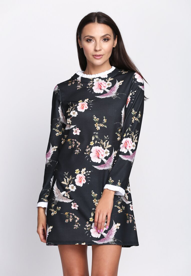 Czarno-Różowa Sukienka Sensitivity