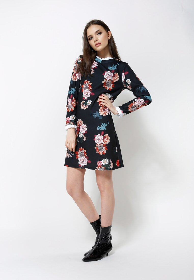 Czarno-Czerwona Sukienka Sensitivity