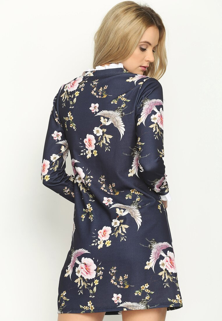 Granatowo-Różowa Sukienka Sensitivity