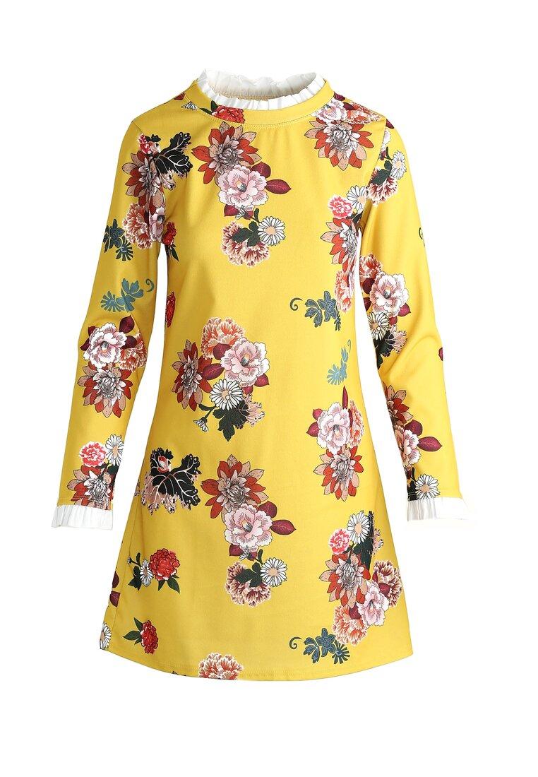 Żółto-Czerwona Sukienka Sensitivity