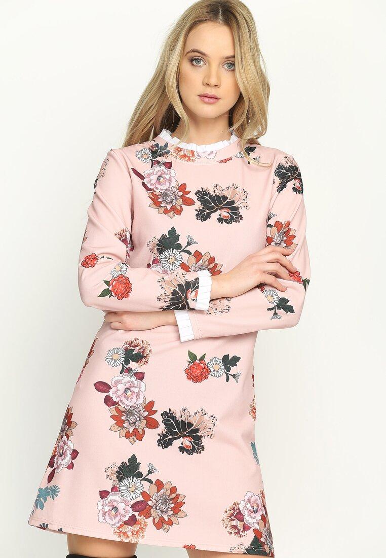 Różowo-Czerwona Sukienka Lady Nature