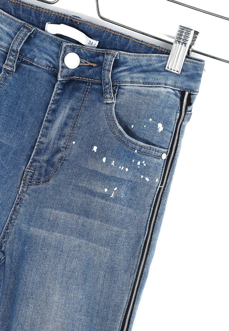 Niebieskie Jeansy Drip