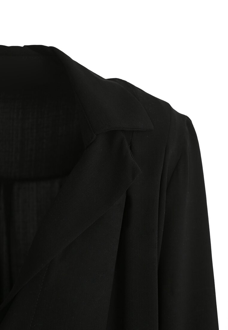 Czarna Koszula Crepe Smooth