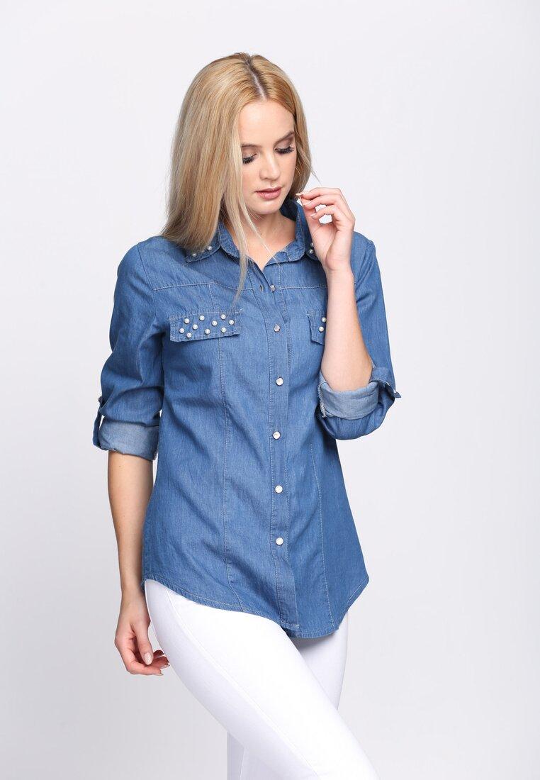Niebieska Koszula Papillon
