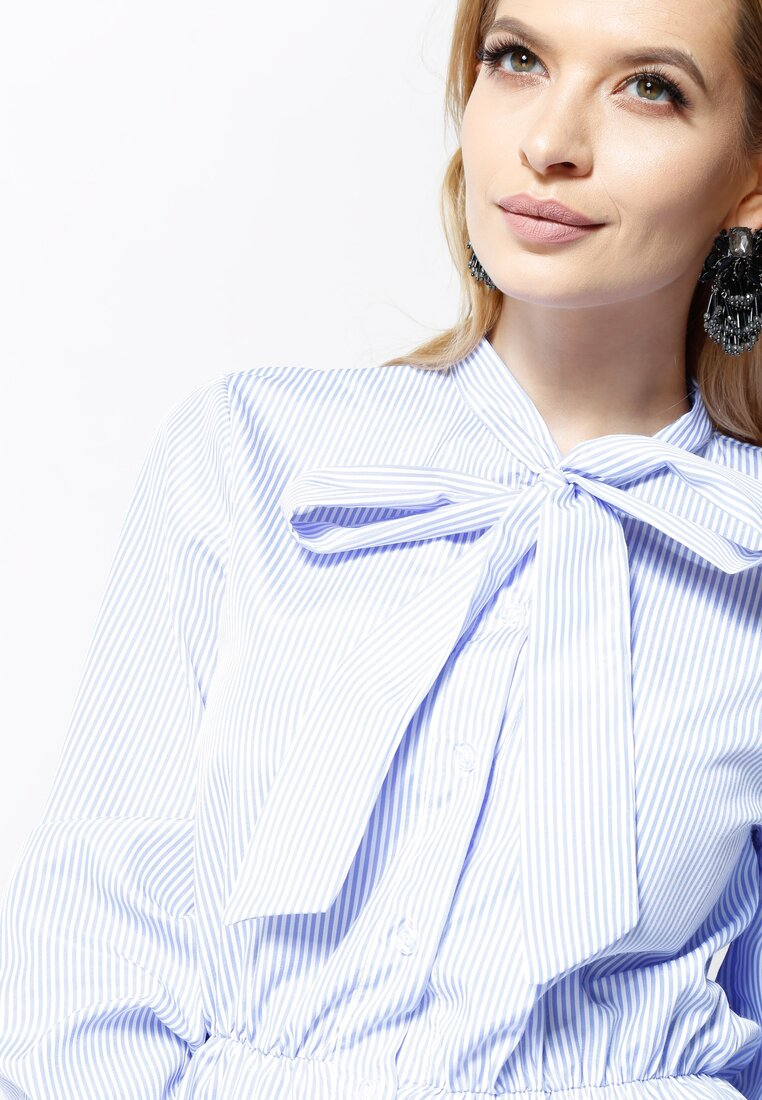Niebieska Koszula Pretty Ribbon