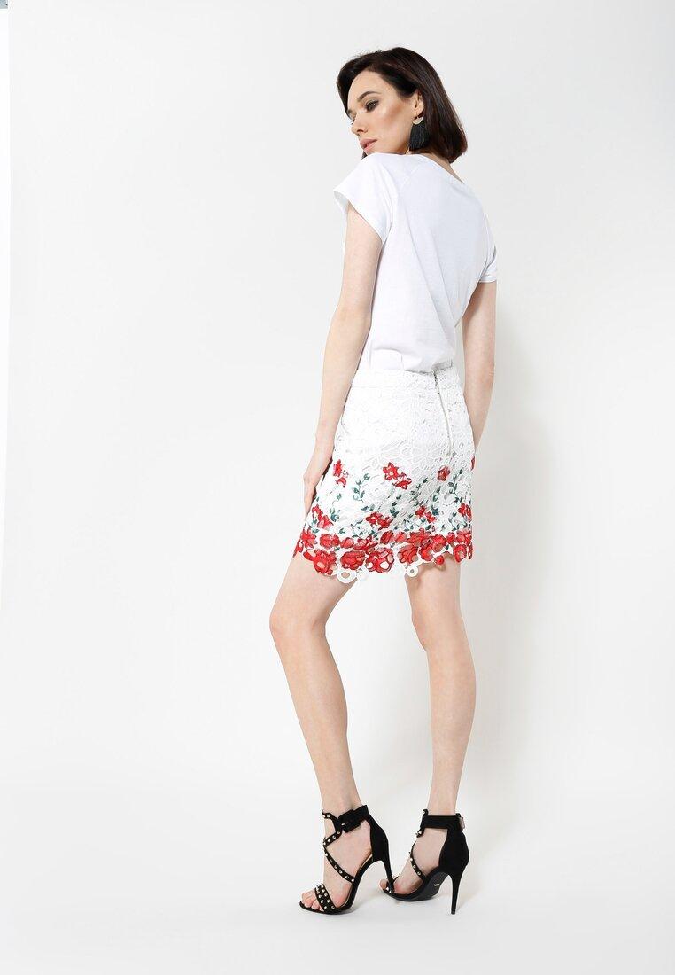 Biało-Czerwona Spódnica Lavender